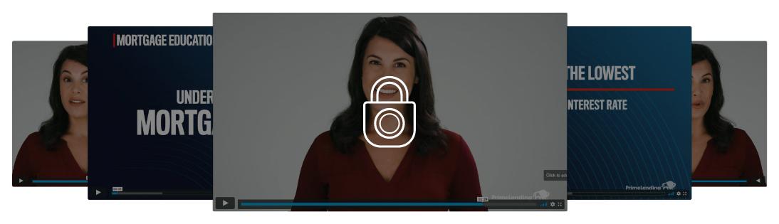 Locked videos