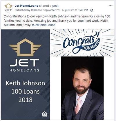 Jet HomeLoans Achievements